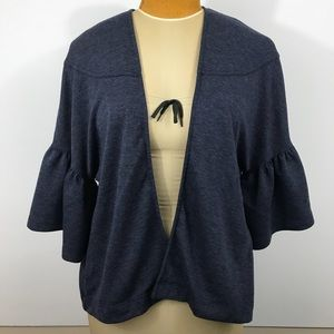 pebble and stone Sweaters - Pebble and Stone bell sleeve open cardigan